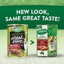 Nature's Gift | with Beef, Barley & Vegetables | Wet dog food | Back of pack