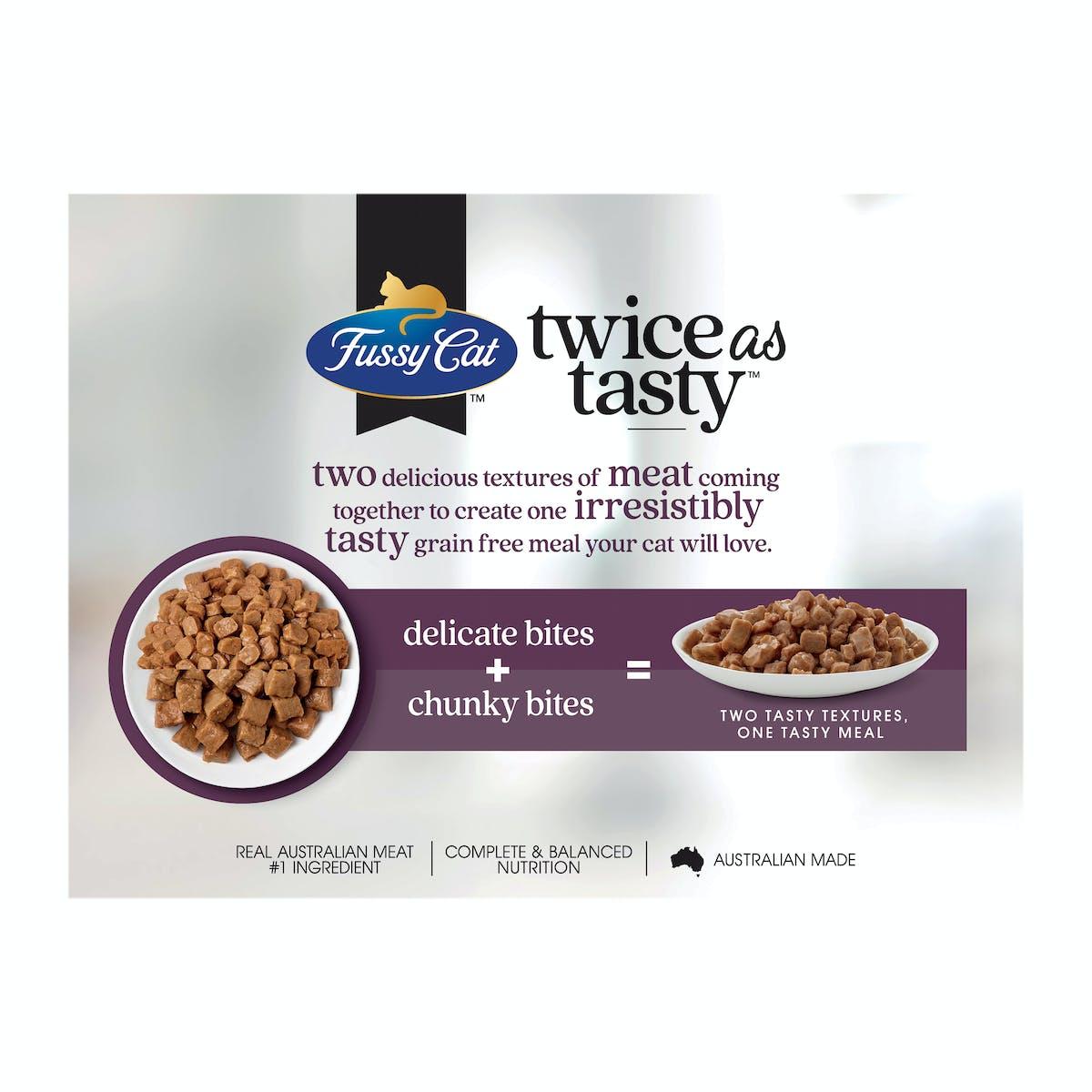 Fussy Cat   Little & Big Bites   Wet Cat Food   Back of pack