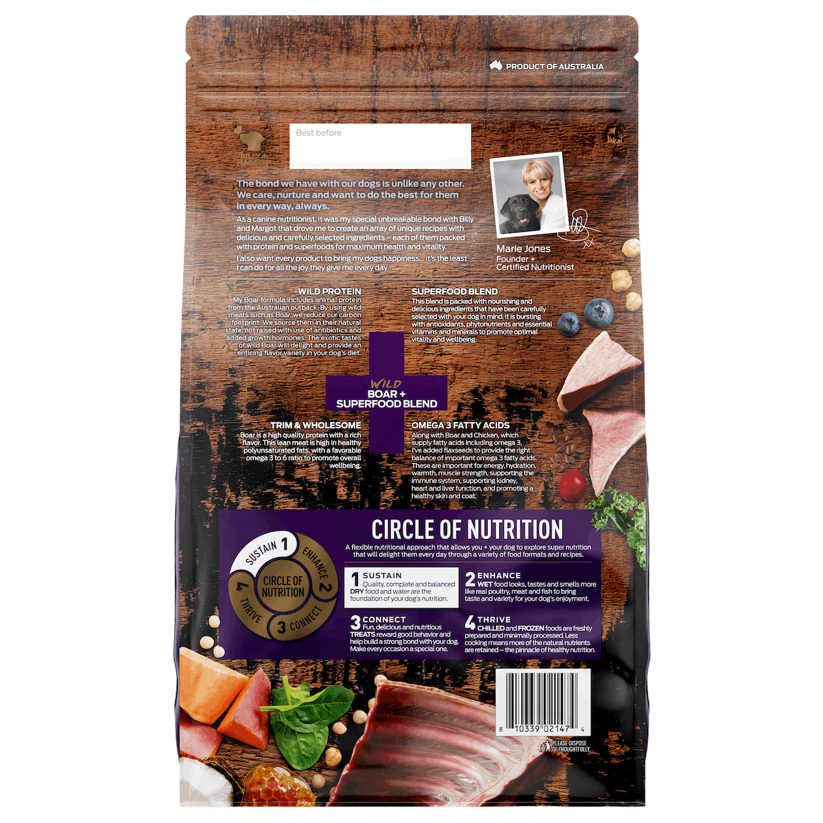 Billy + Margot® | Boar + Superfood Blend | Dry dog food | Front of pack