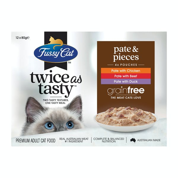 Fussy Cat | Pate & Pieces | Wet Cat Food | Front of pack