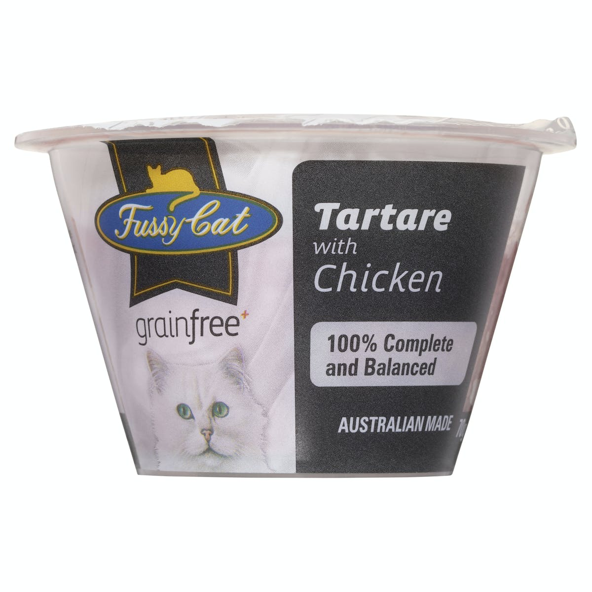Fussy Cat   Tartare with Chicken 70g   Chilled cat food   Front of pack