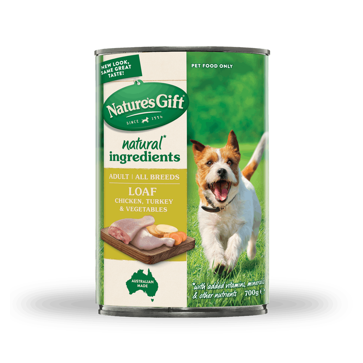 Nature's Gift | Chicken, Turkey & Vegetables | Wet dog food | Front of pack