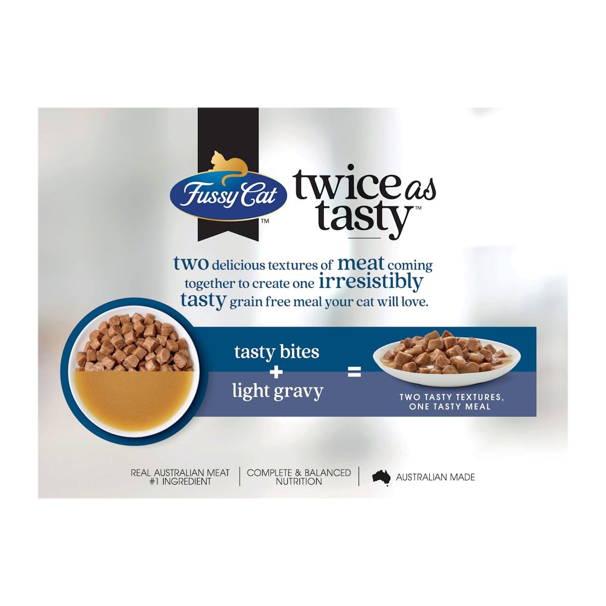 Fussy Cat   Bites & Fish Gravy   Wet Cat Food   Back of pack