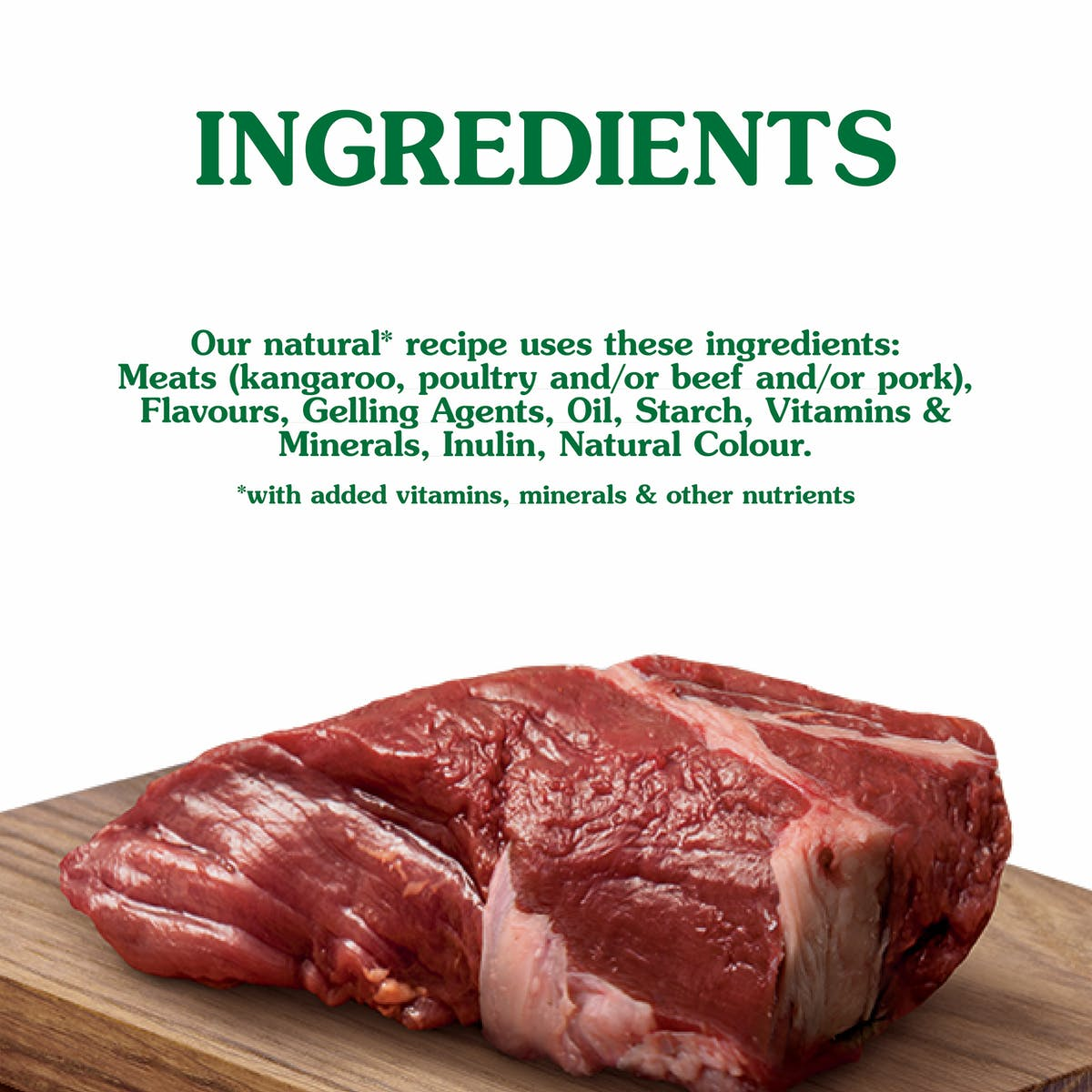 Nature's Gift | Kangaroo Fillet Recipe | Wet dog food | Bottom of pack