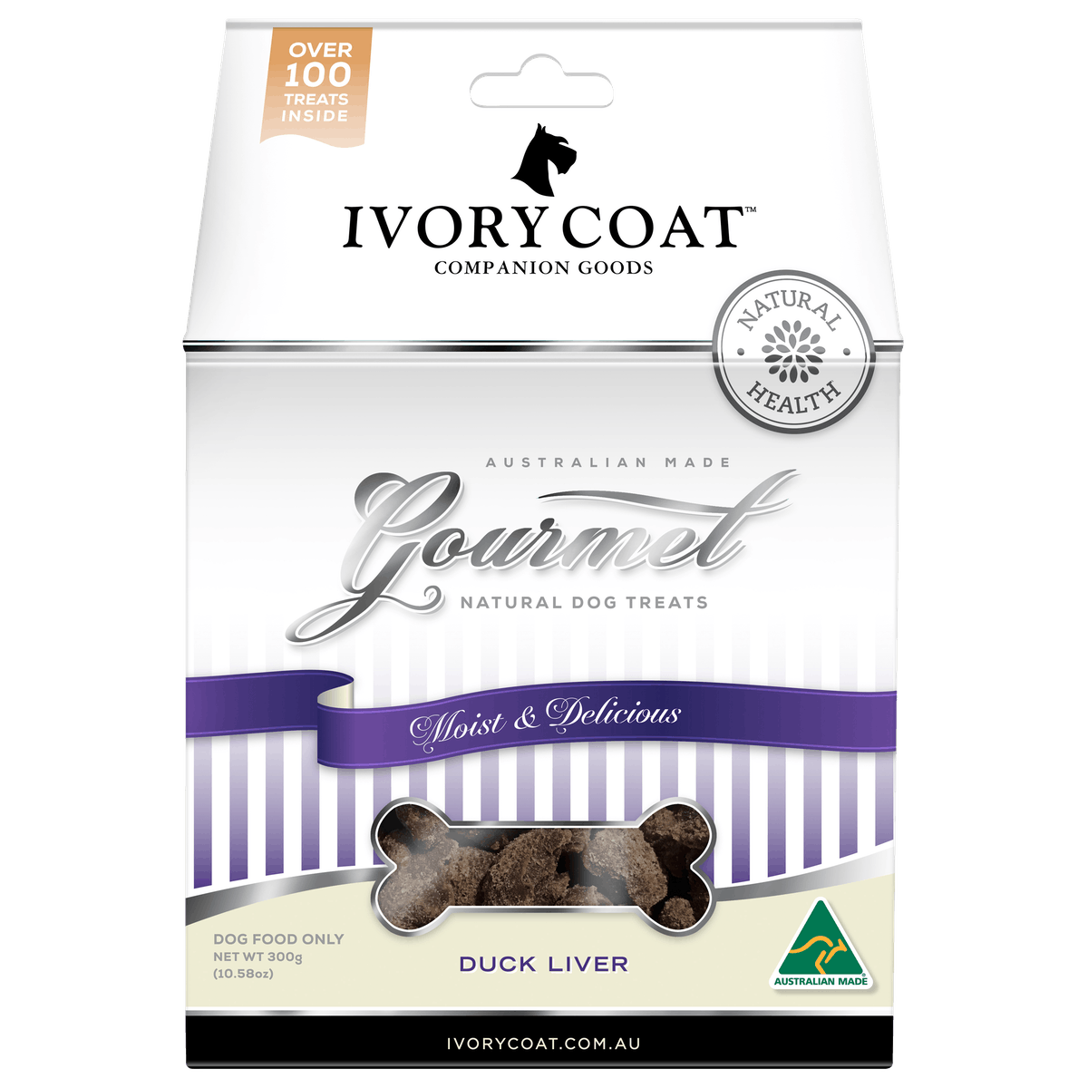 Ivory Coat | Duck Liver | Dog treats | Front of pack