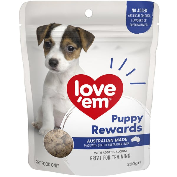 Love'em | Puppy Rewards | Train dog | Front of pack