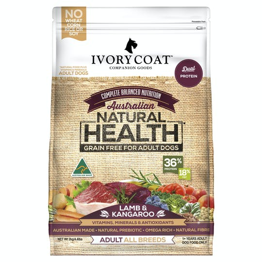 Ivory Coat | Lamb & Kangaroo | Grain-free dry dog food | Front of pack