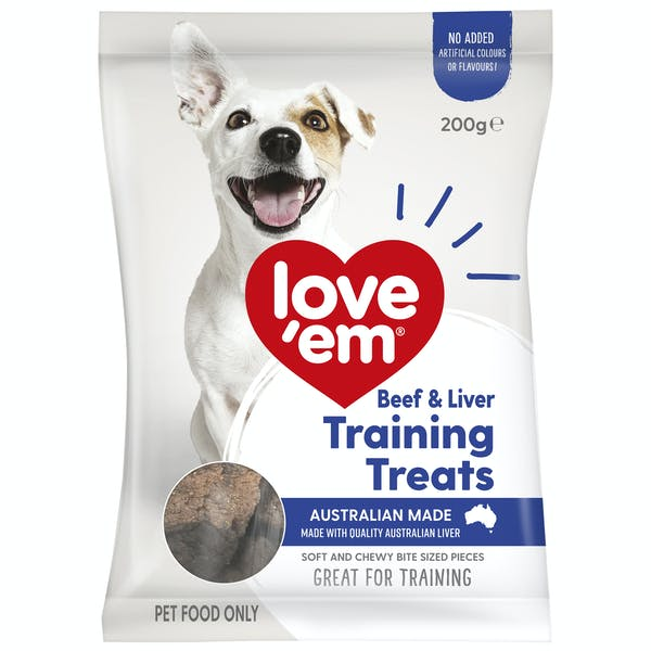 Love'em | Beef & Liver Training Treats | Train dog | Front of pack
