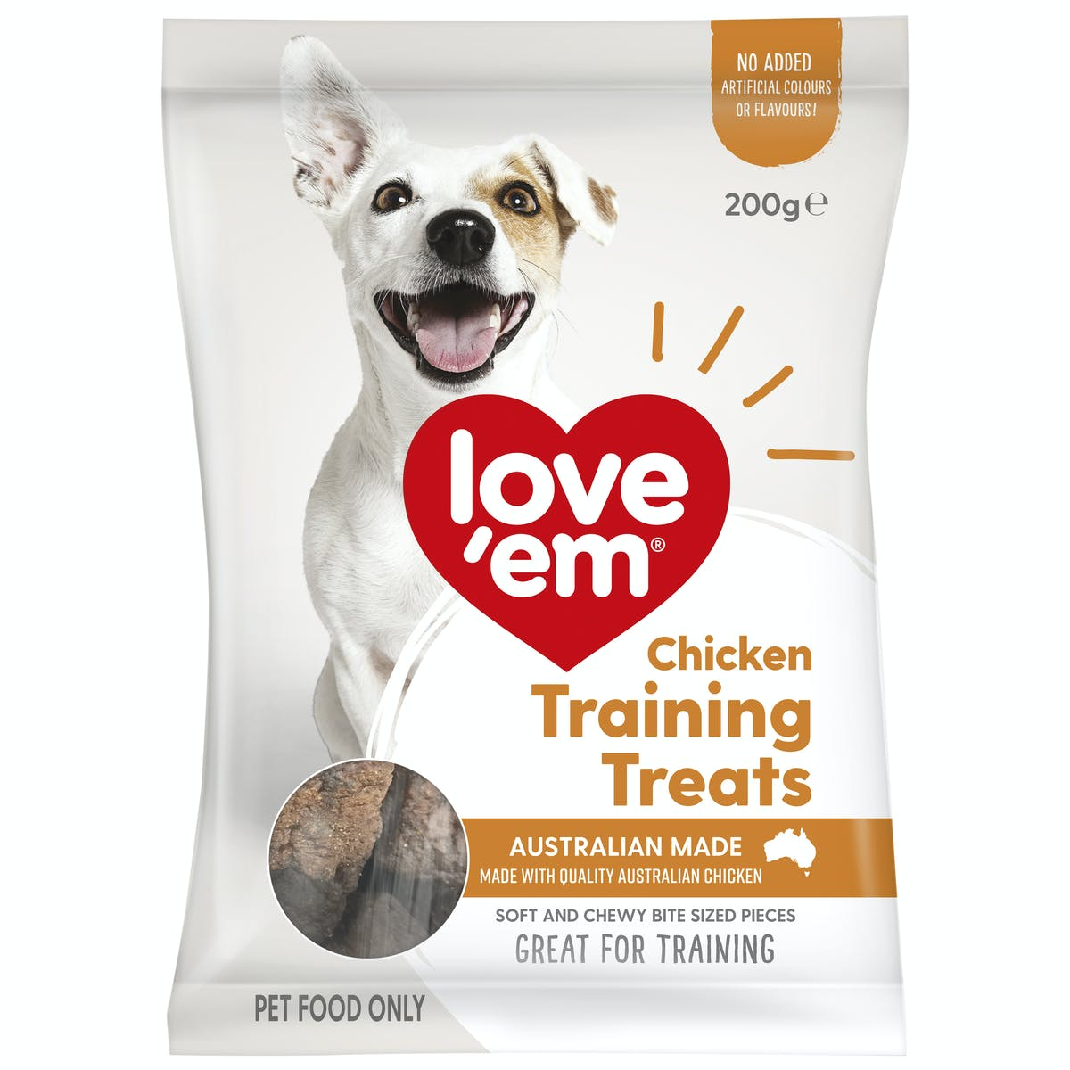 Love'em | Chicken Training Treats | Train dog | Front of pack