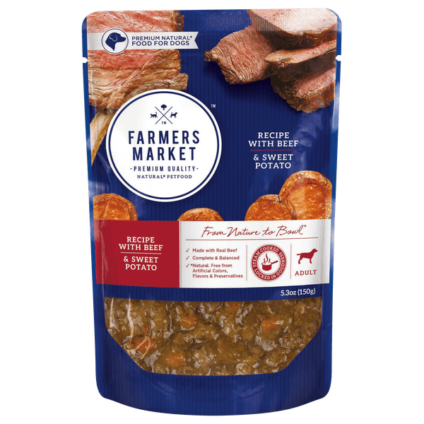 Farmers Market | Beef and Sweet Potato | Wet dog food | Front of pack