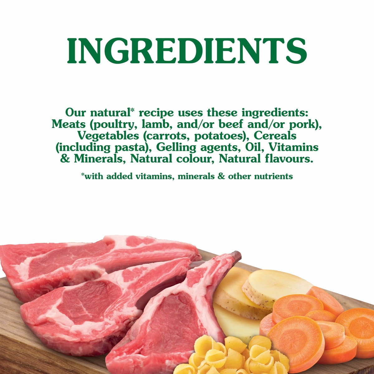 Nature's Gift | Lamb Recipe with Pasta & Vegetable | Wet dog food | Bottom of pack