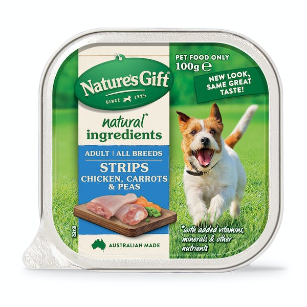 Nature's Gift | Chicken, Carrots & Peas | Wet dog food | Front of pack