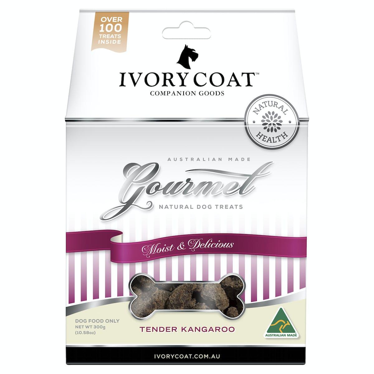 Ivory Coat | Kangaroo | Dog treats | Front of pack