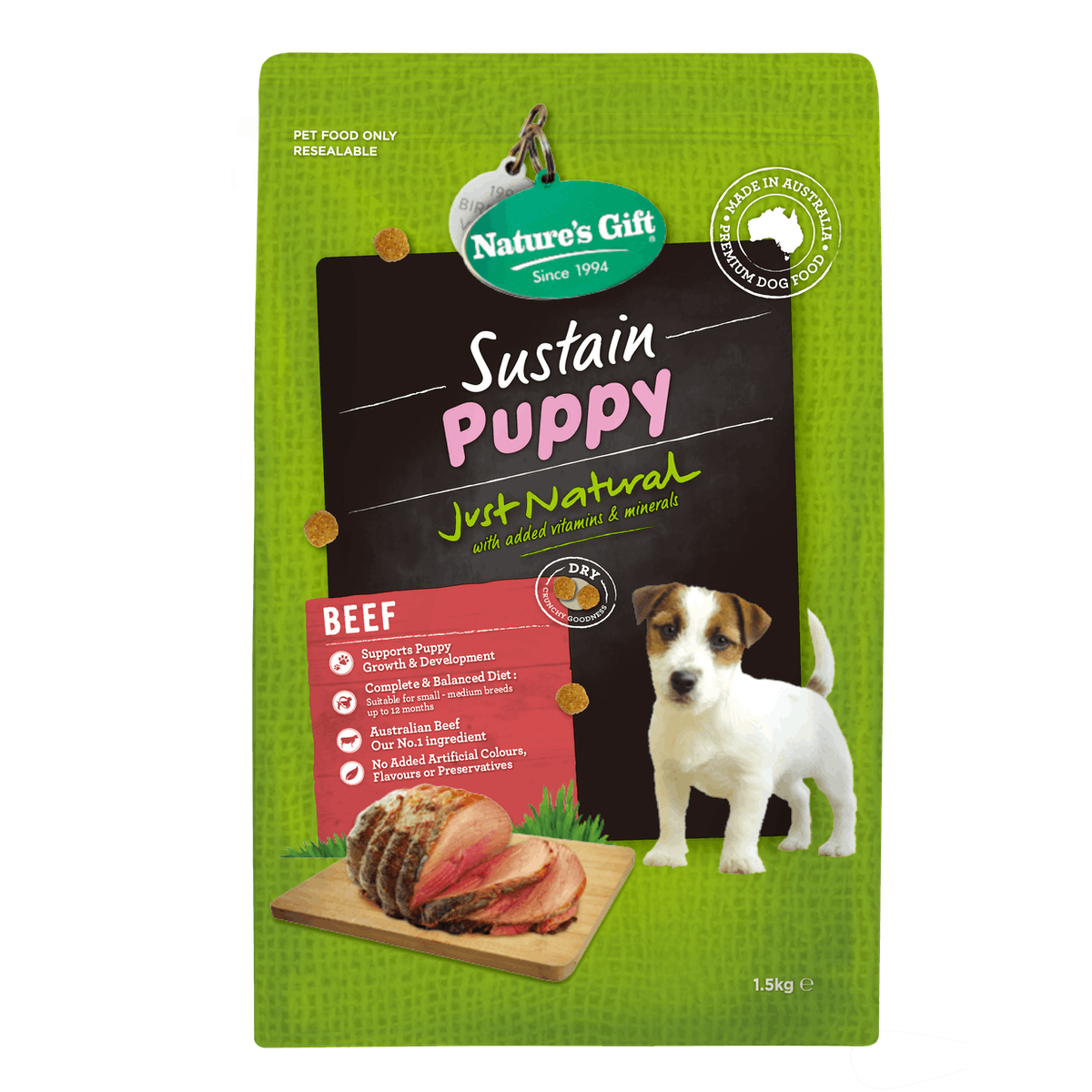 Nature's Gift | Beef | Dry dog food | Front of pack
