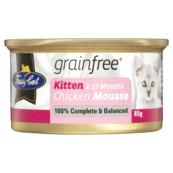 Fussy Cat | Chicken Mousse 85g | Wet Cat Food | Front of pack