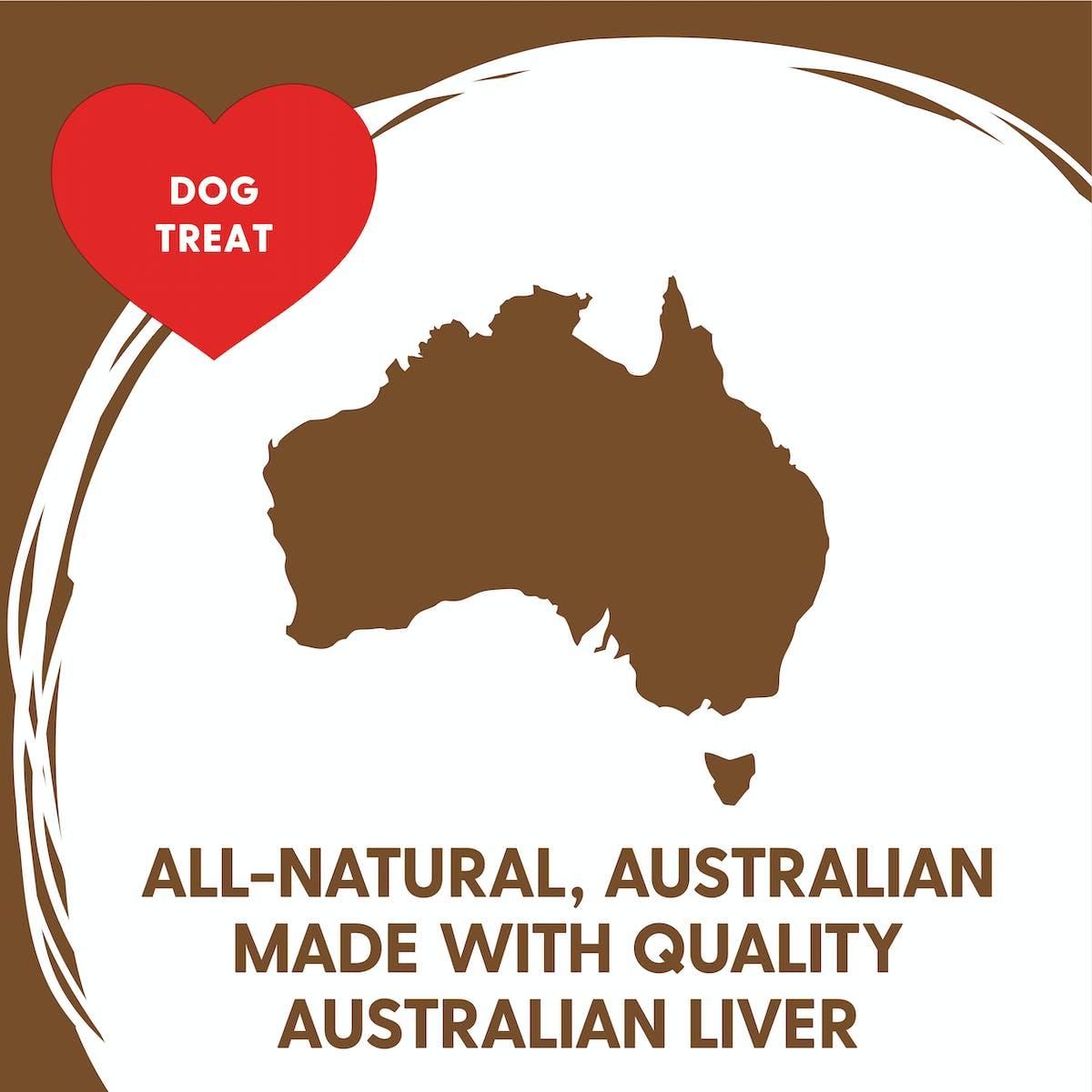 Love'em | Beef Liver Brownies | Indulge dog | Back of pack