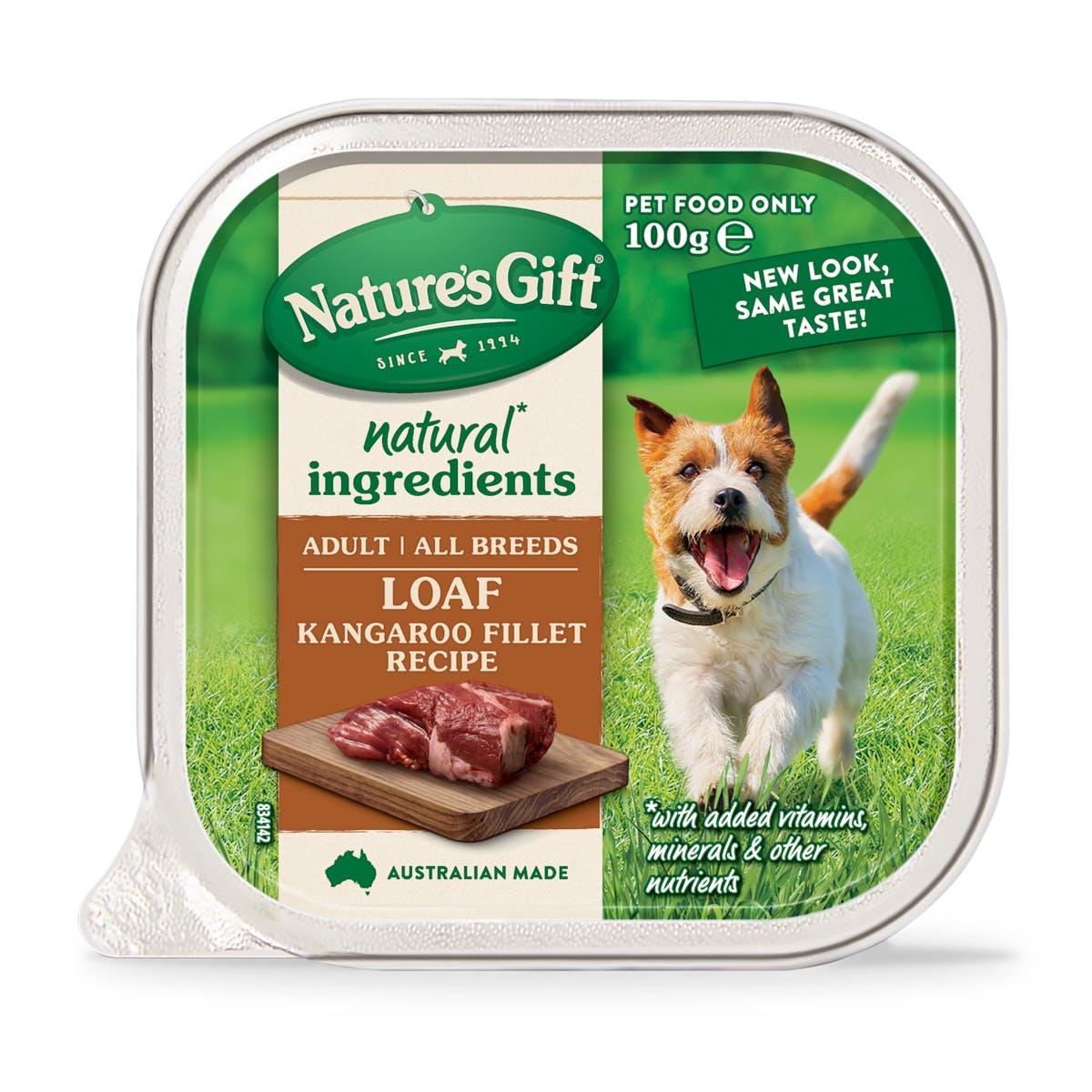 Nature's Gift | Kangaroo Fillet Recipe | Wet dog food | Front of pack