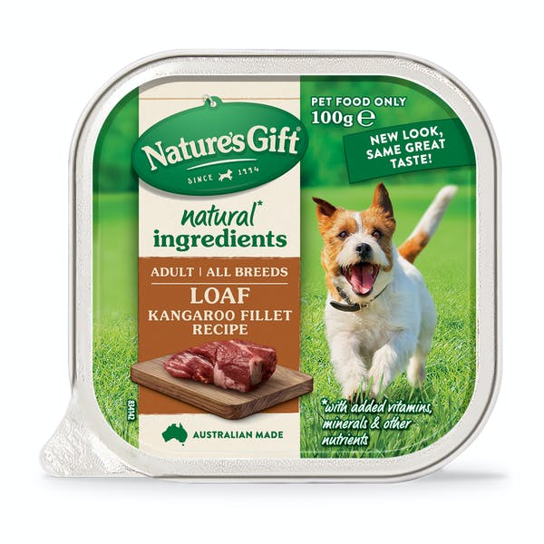 Nature's Gift | Kangaroo Fillet Recipe | Wet dog food | Front of pack