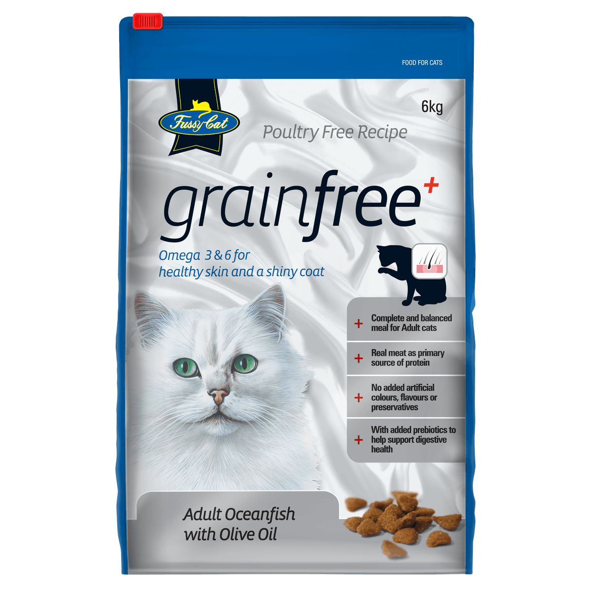 Fussy Cat | Oceanfish with Olive Oil | Dry cat food | Front of pack