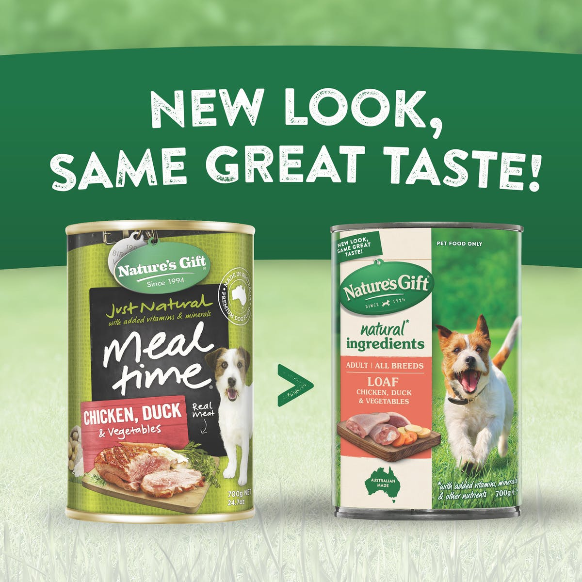 Nature's Gift | Chicken, Duck & Vegetables | Wet dog food | Back of pack