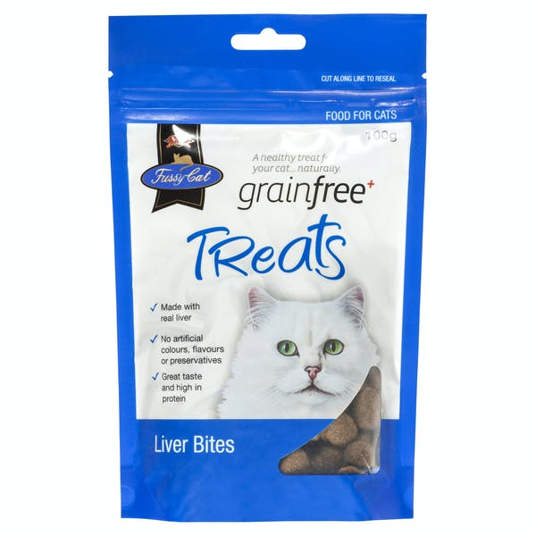 Fussy Cat | Liver Bites 100g | Cat treats | Front of pack