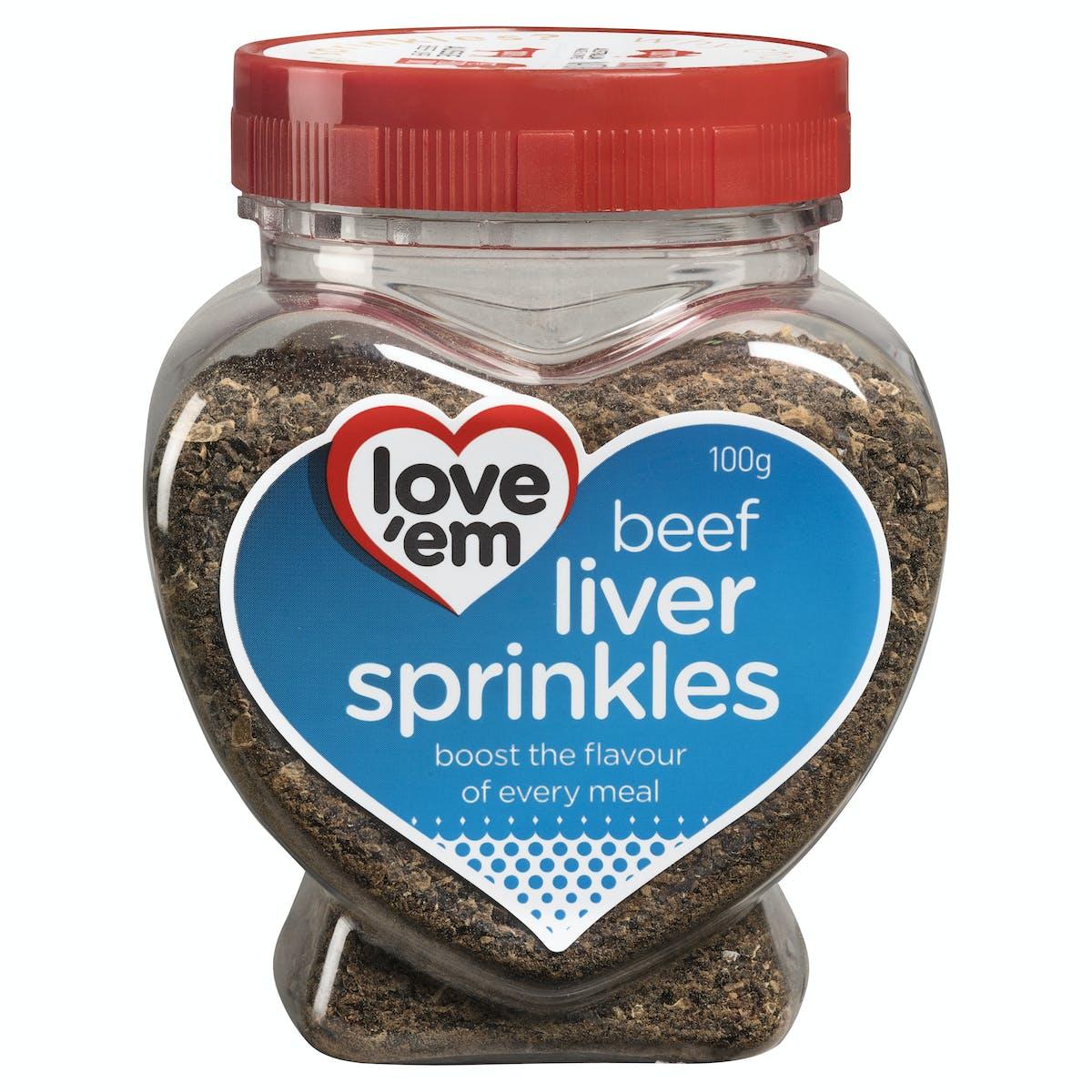 Love'em | beef liver sprinkles | Health dog | Front of pack