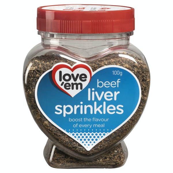 Love'em | beef liver sprinkles | Health dog | Front of pack