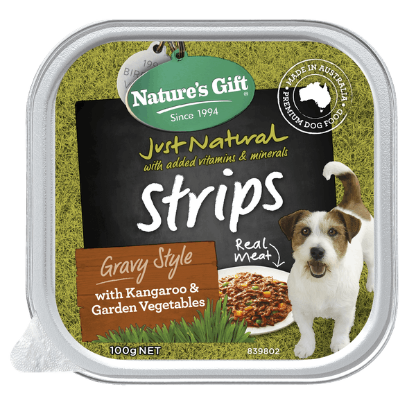 Nature's Gift | Kangaroo & Garden Vegetables | Wet dog food | Front of pack