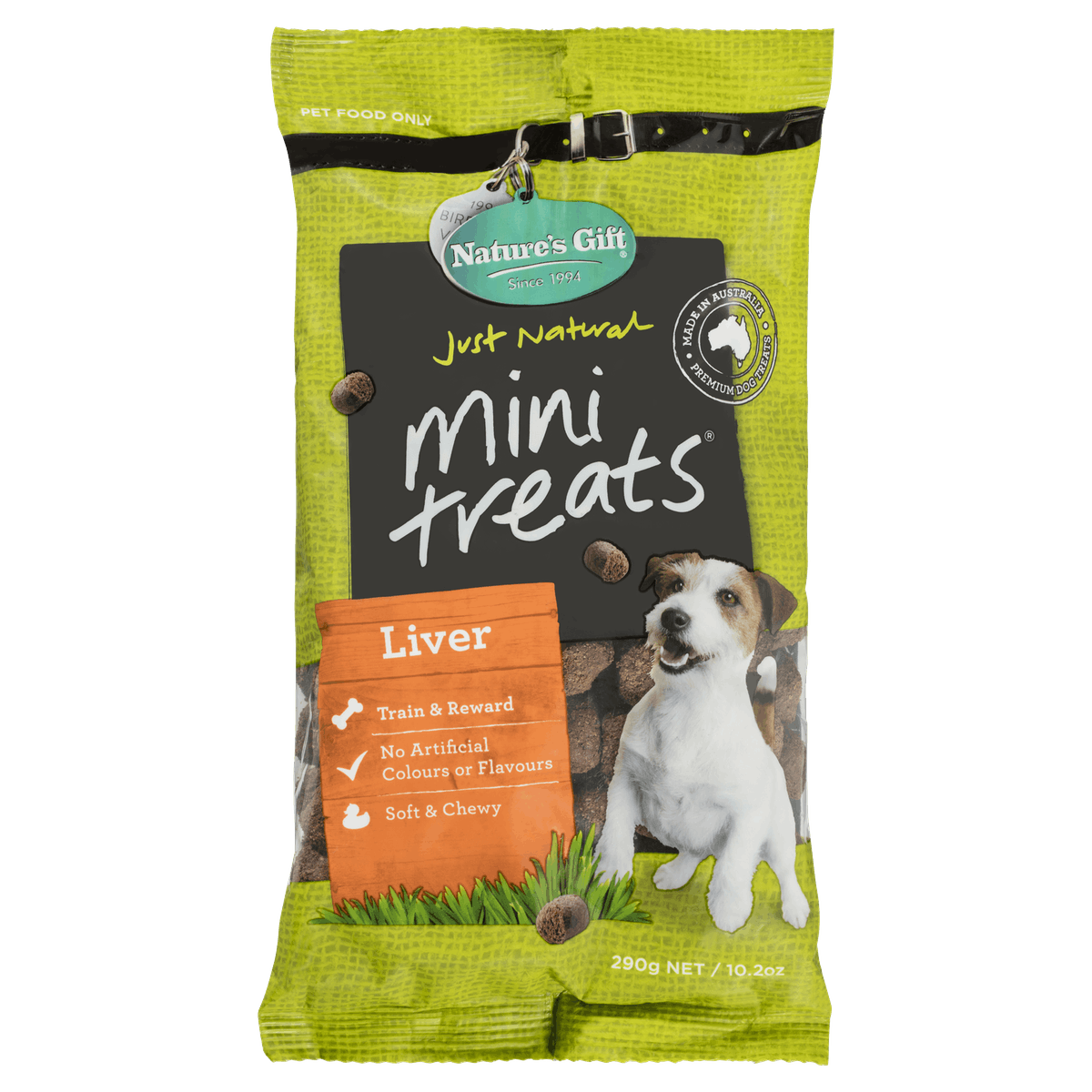 Nature's Gift | Liver | Dog treats | Front of pack