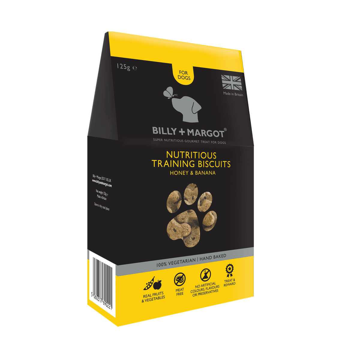 Billy + Margot® | Honey & Banana Nutritious Training Biscuits | Training Biscuits | Front of pack