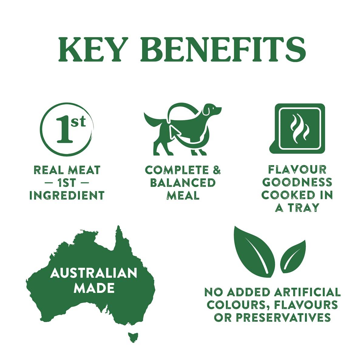 Nature's Gift | Kangaroo Fillet Recipe | Wet dog food | Right of pack