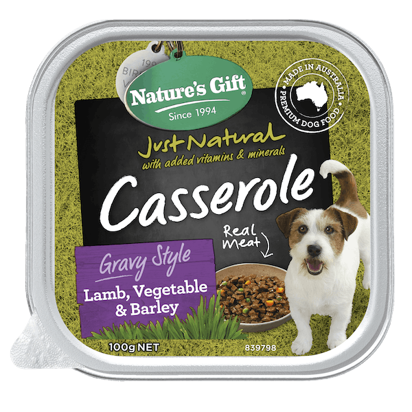 Nature's Gift | Lamb, Vegetable & Barley | Wet dog food | Front of pack