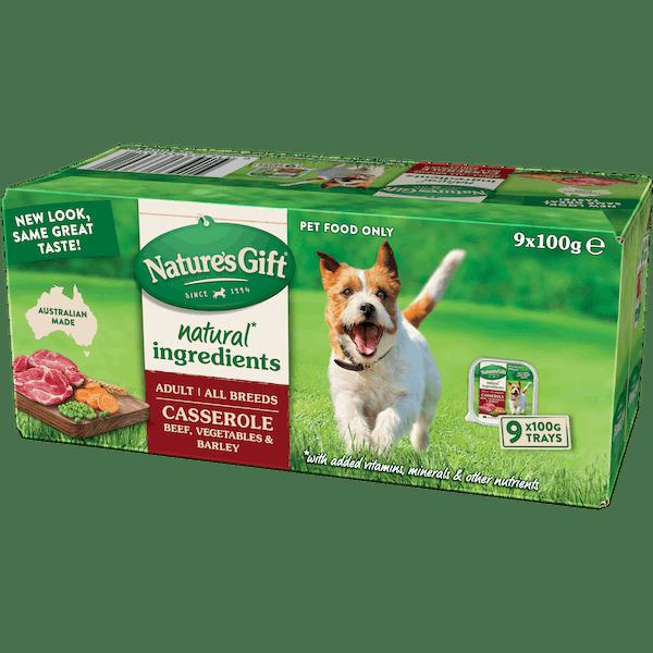 Nature's Gift | Beef, Vegetable & Barley | Wet dog food | Front of pack