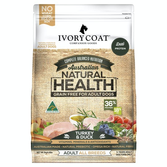 Ivory Coat | Turkey & Duck | Grain-free dry dog food | Front of pack
