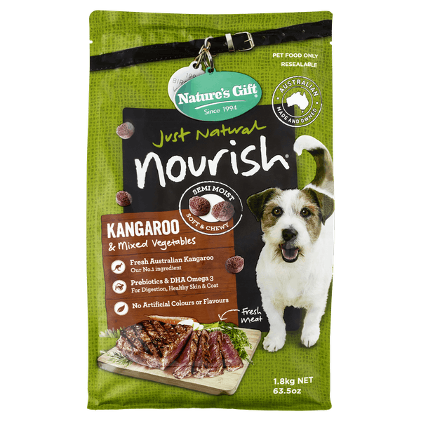 Nature's Gift | Kangaroo & Mixed Vegetables | Dry dog food | Front of pack