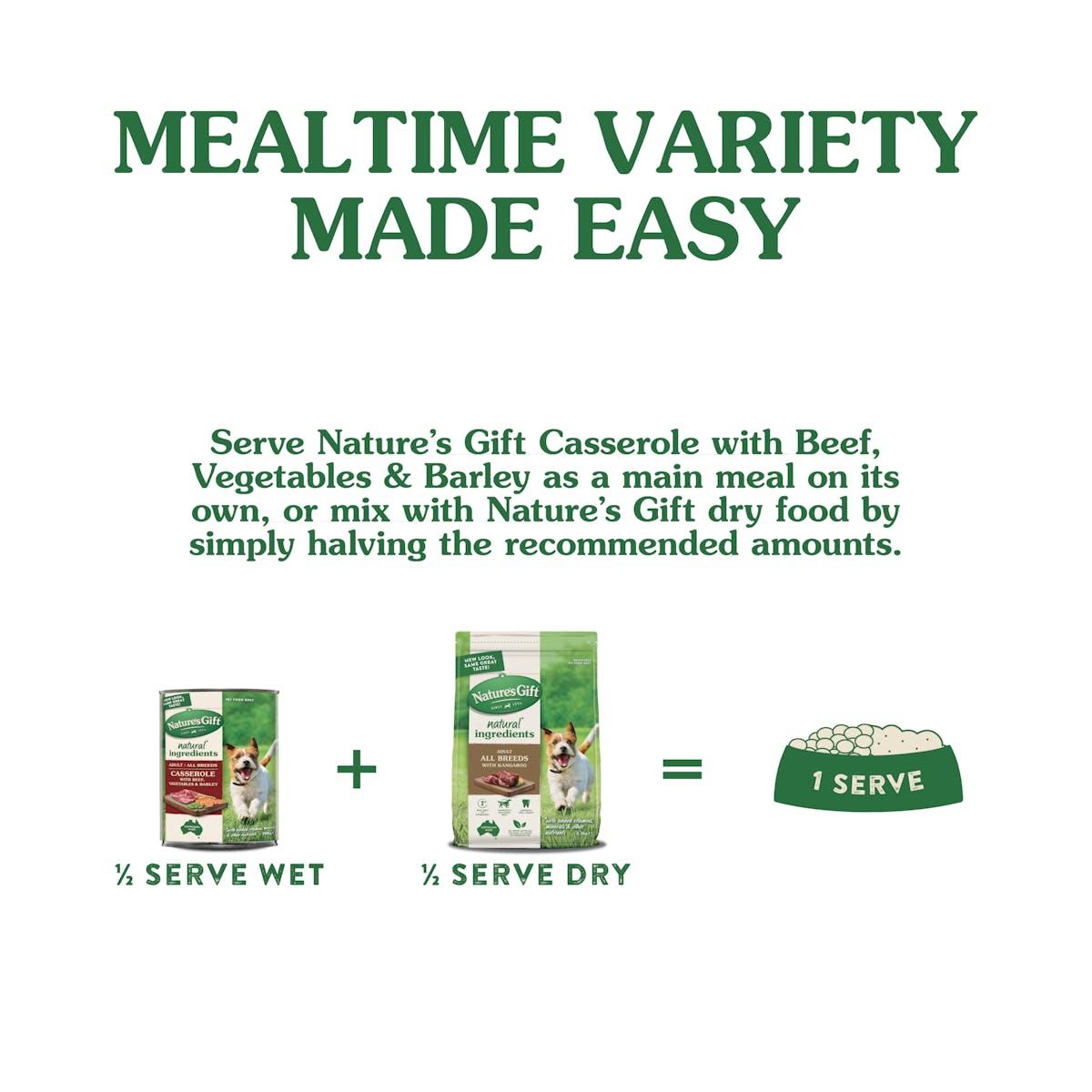 Nature's Gift | Beef, Vegetable & Barley | Wet dog food