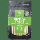 Billy + Margot®   Apple & Green Tea Flavors   Dog treats   Front of pack