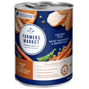 Farmers Market | Chicken Stew with Vegetables & Brown Rice | Wet dog food | Front of pack