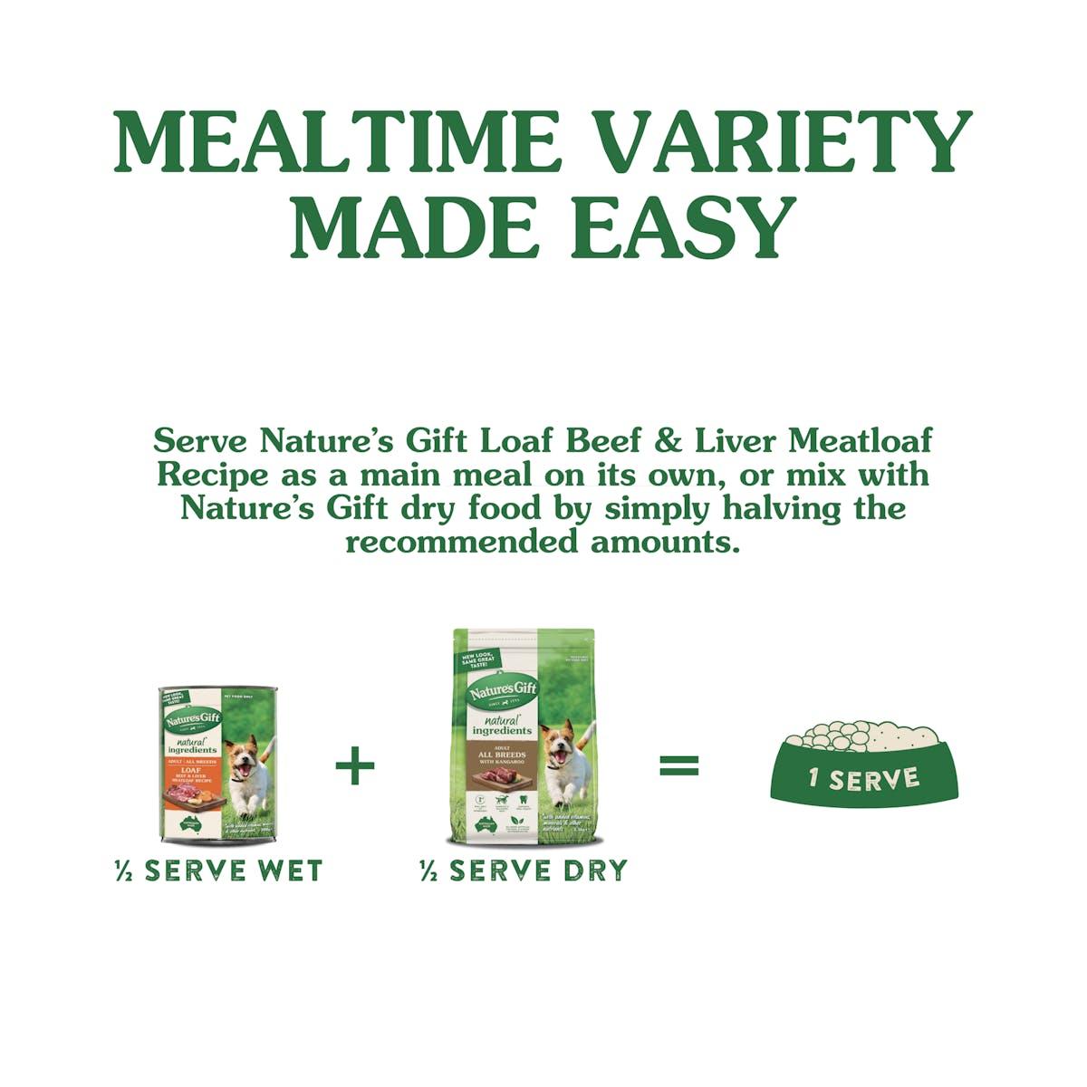 Nature's Gift | Beef & Liver Meatloaf Recipe | Wet dog food