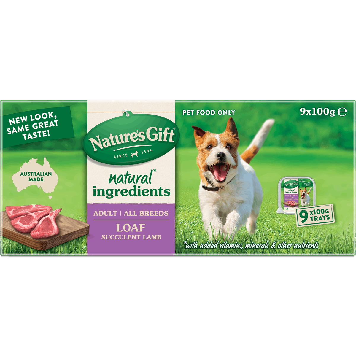 Nature's Gift | Succulent Lamb | Wet dog food | Front of pack