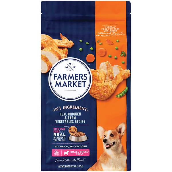 Farmers Market | Real Chicken & Farm Vegetables Recipe | Dry dog food | Front of pack