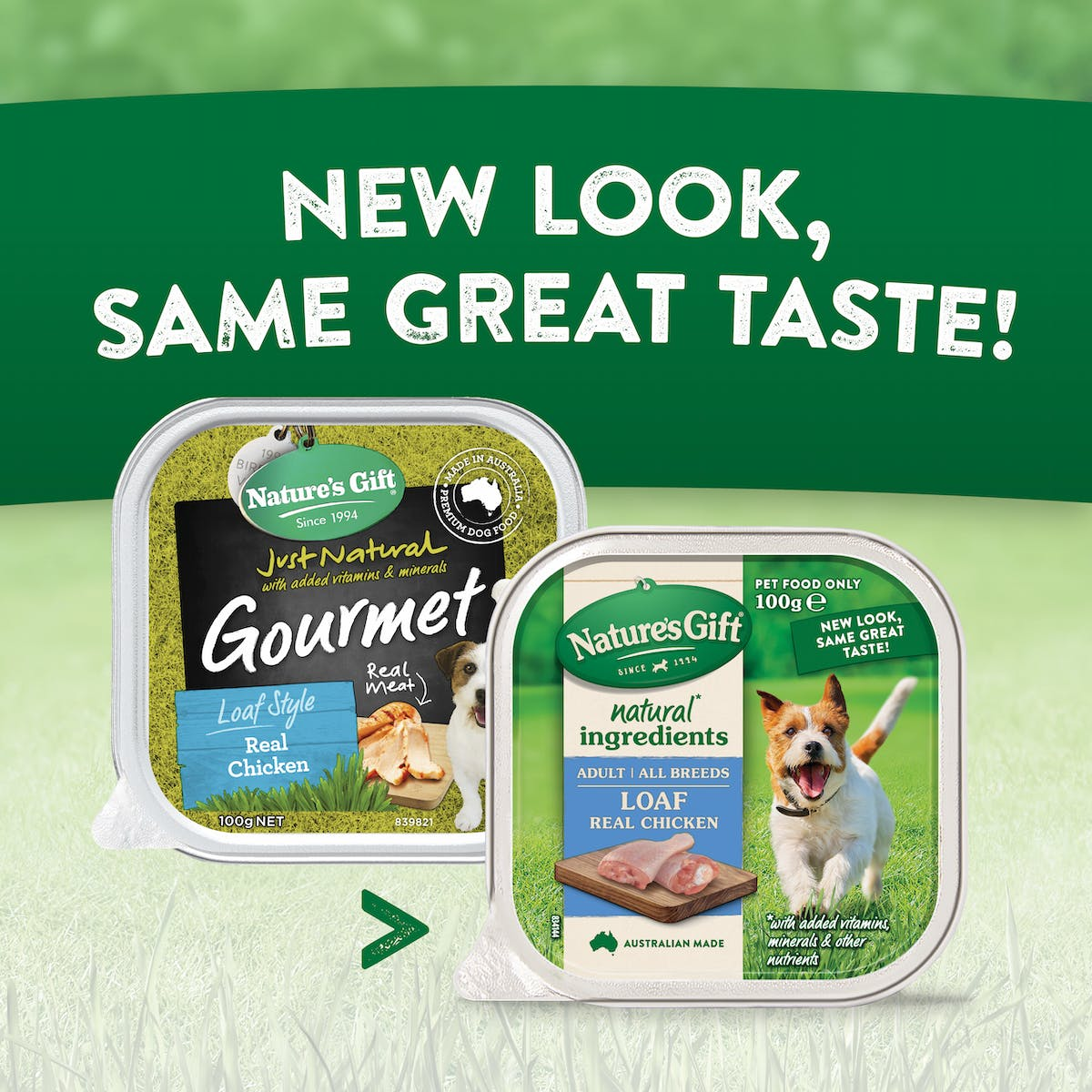 Nature's Gift | Real Chicken | Wet dog food | Back of pack