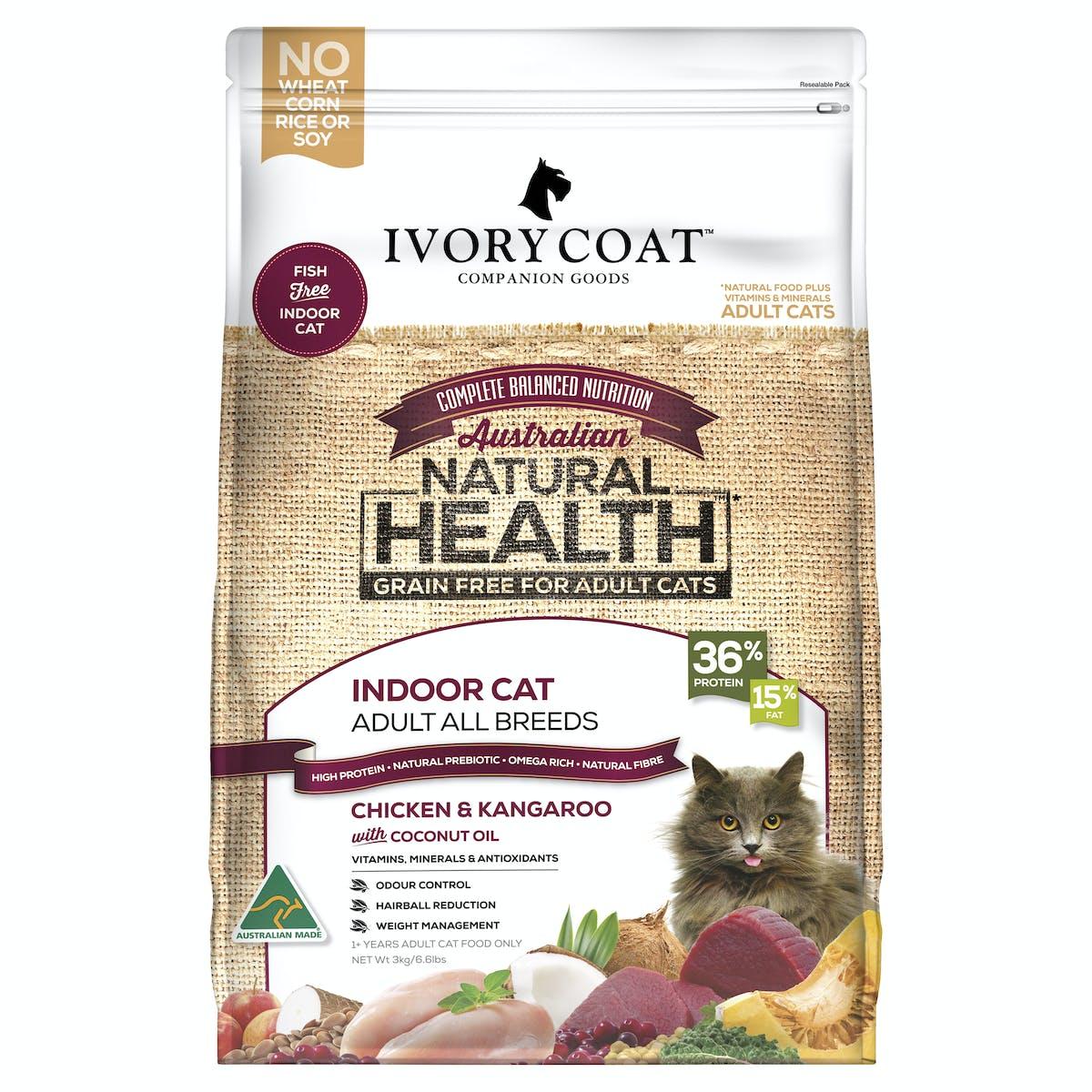 Ivory Coat | Chicken & Kangaroo | Grain-free dry cat food | Front of pack