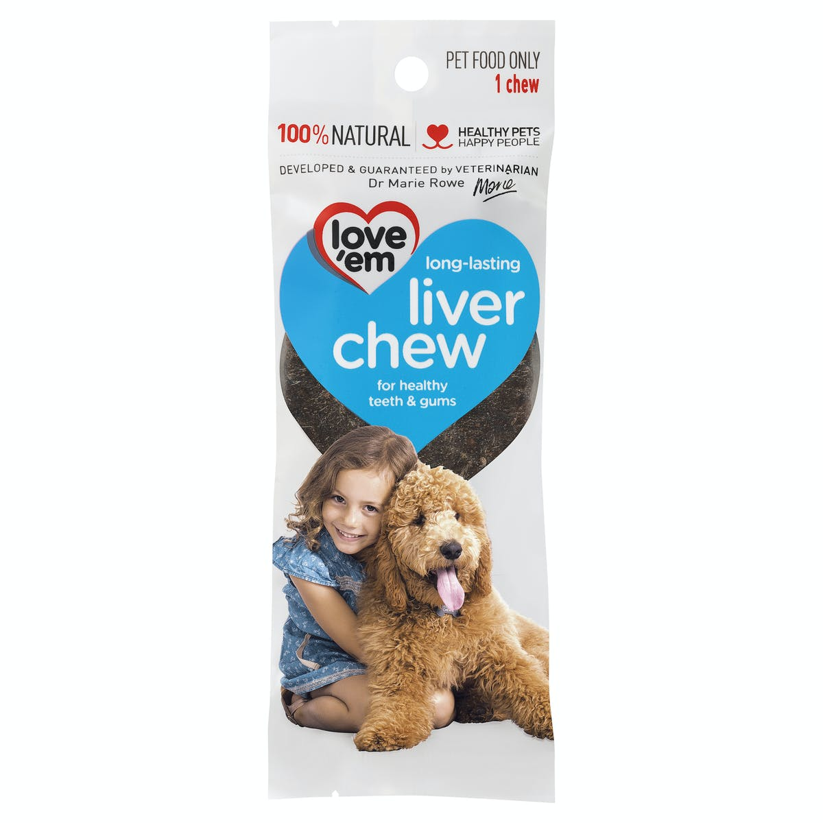 Love'em | liver chew | Occupy dog | Front of pack