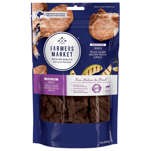Farmers Market | Wild Game with Apple | Dog treats | Front of pack