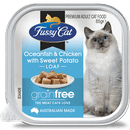 Fussy Cat | Oceanfish and Chicken with Sweet Potato 85g | Wet Cat Food | Front of pack