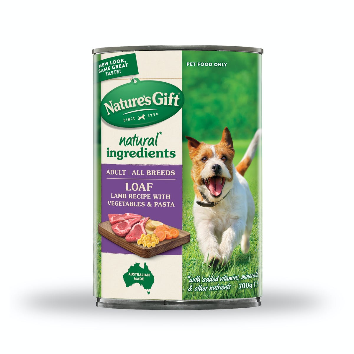 Nature's Gift | Lamb Recipe with Pasta & Vegetable | Wet dog food | Front of pack