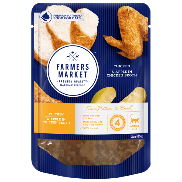 Farmers Market | Chicken and Apple in Chicken Broth | Wet Cat Food | Front of pack