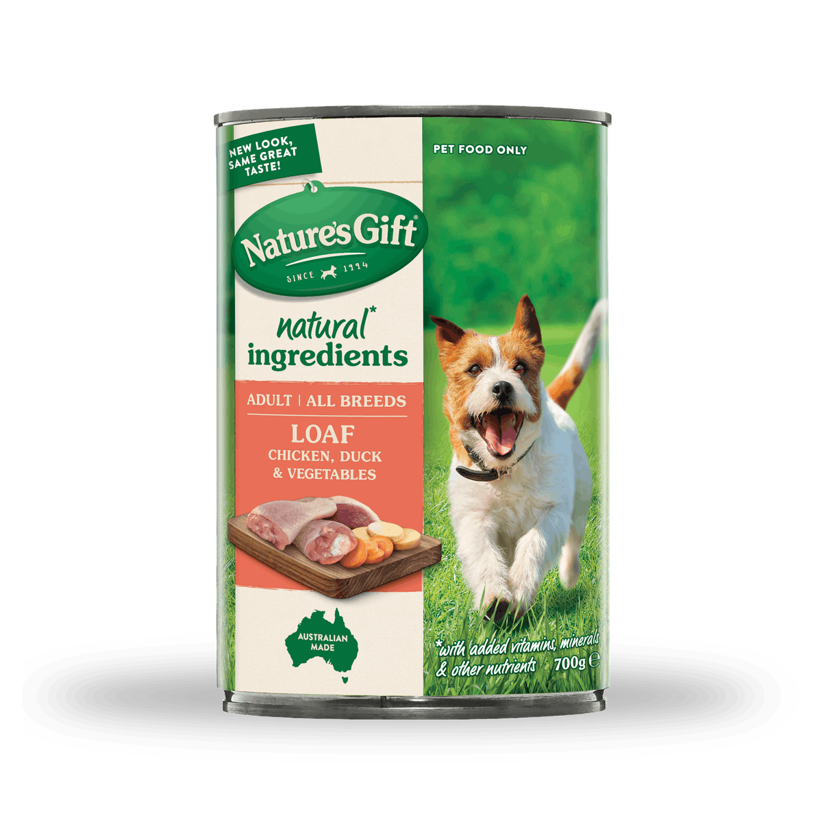 Nature's Gift | Chicken, Duck & Vegetables | Wet dog food | Front of pack