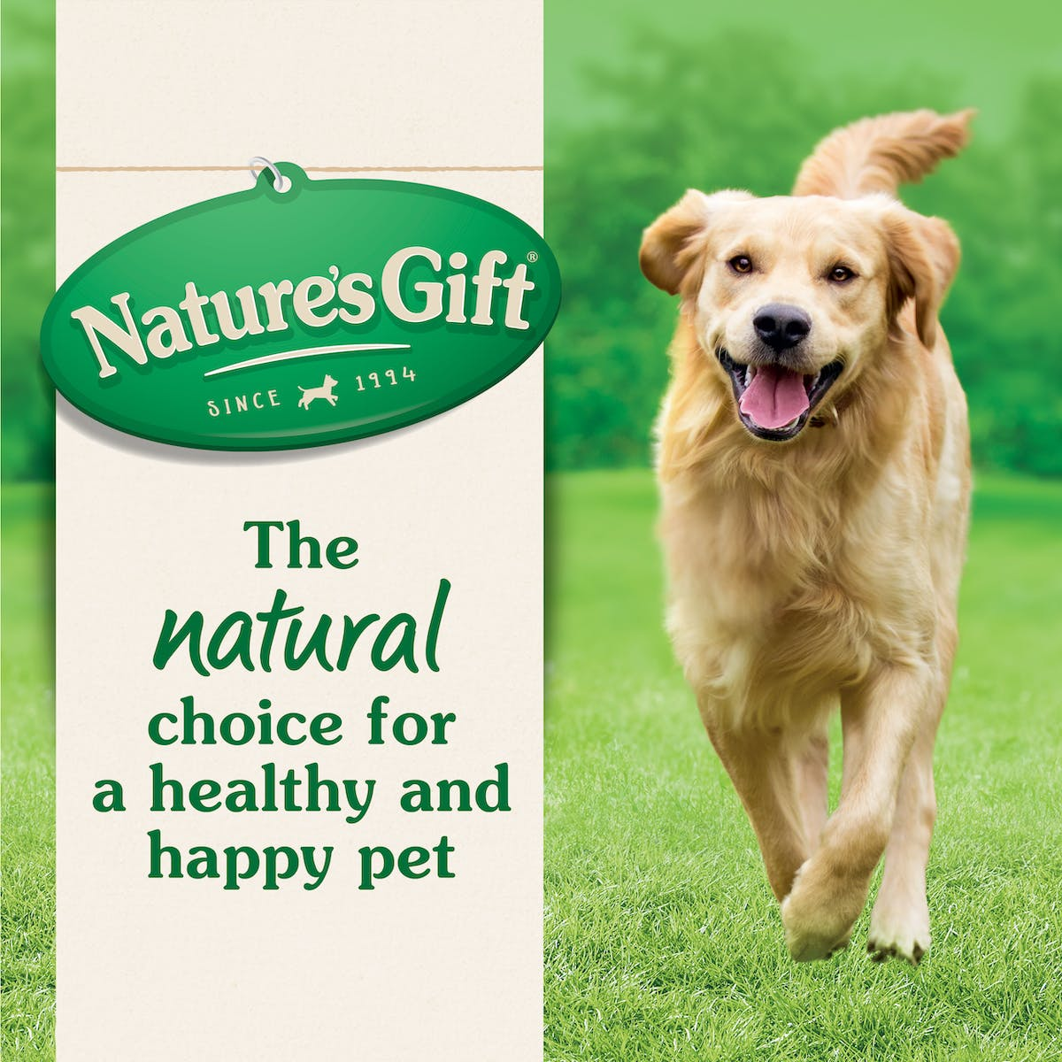 Nature's Gift   Large Breed with Chicken & Mixed Vegetables   Dry dog food   Top of pack
